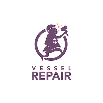 Mascotte pour la réparation de bateaux et de navires