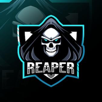 Mascotte de reaper logo esport