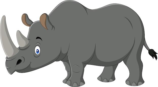 Mascotte de rhinocéros de dessin animé