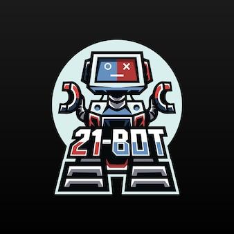 Mascotte de robot pour l'esport