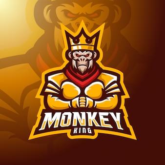 Mascotte de roi singe.