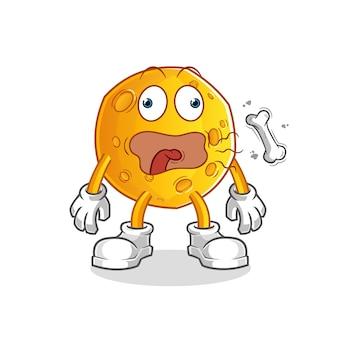 Mascotte de rot de lune. dessin animé