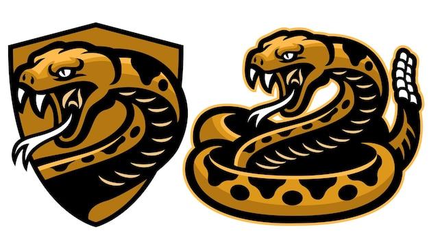 Mascotte de serpent hochet en set