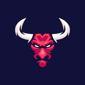 Mascotte de taureau rouge