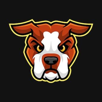 Mascotte de tête bulldog américain ou vecteur de caractère