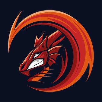 Mascotte tête de dragon