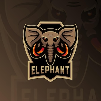 Mascotte tête d'éléphant