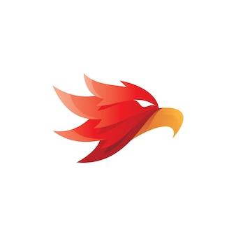 Mascotte de tête de faucon aigle oiseau