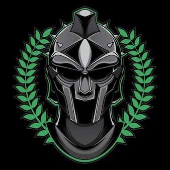 Mascotte de tête de gladiateur