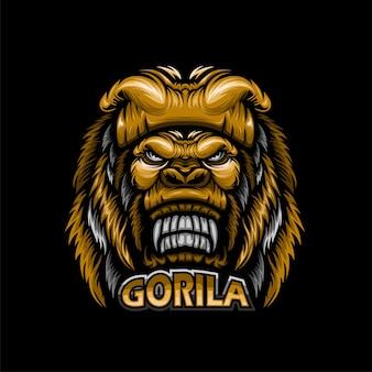 Mascotte de tête de gorille esport