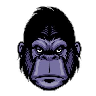 Mascotte tête de gorille