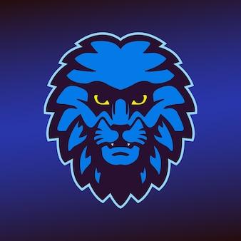 Mascotte de tête de lion