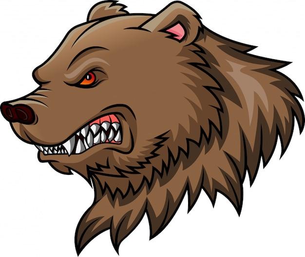 Mascotte tête d'ours