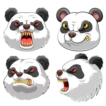 Mascotte tete de panda
