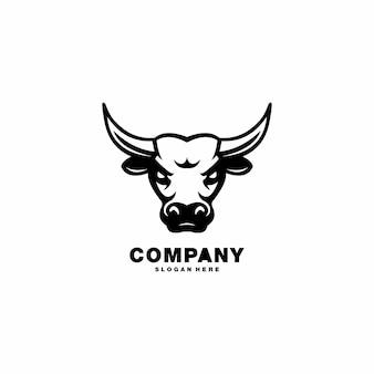 Mascotte de tête de taureau. logo buffalo