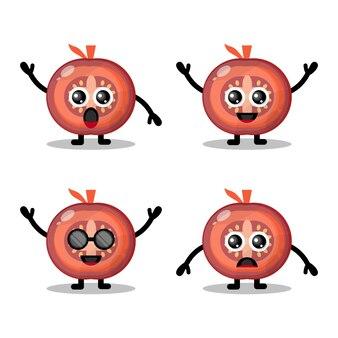 Mascotte de tomate mignonne
