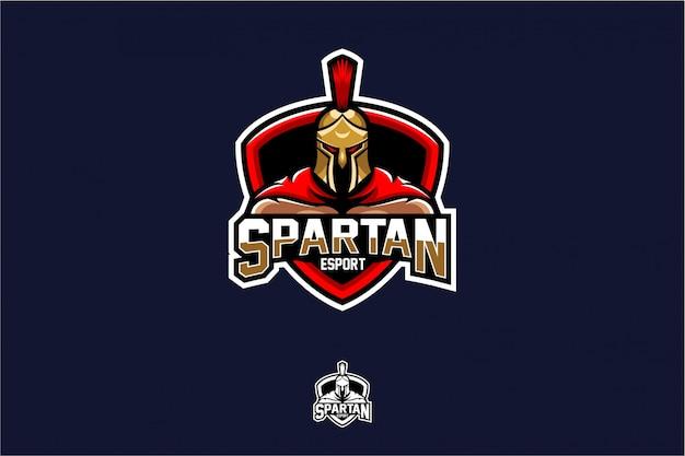 Mascotte de vecteur emblème spartan