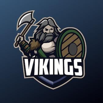 Mascotte Viking Pour Les Sports Et Esports Logo Vecteur Premium