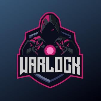 Mascotte de warlock pour le logo sport et esport
