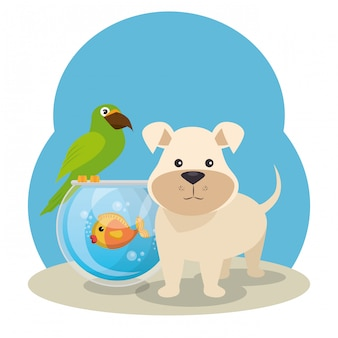 Mascottes mignonnes et icônes d'animalerie