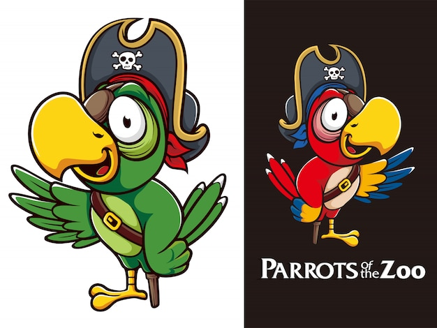 Mascottes de perroquet pirate