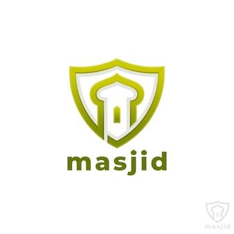 Masjid - modèle de logo de la mosquée islamique