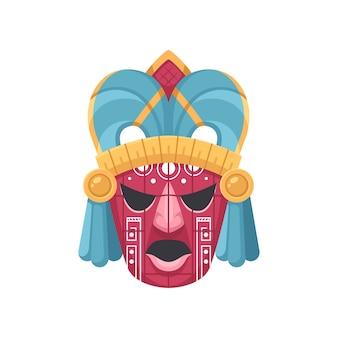 Masque antique de civilisation maya