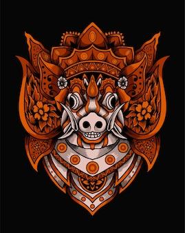 Masque de barong bali
