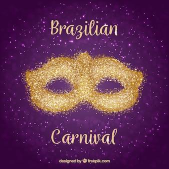Masque de carnaval brésilien or / paillettes