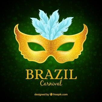 Masque de carnaval brésilien d'or