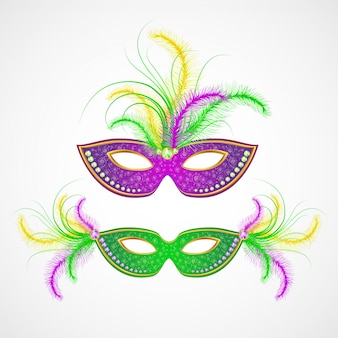 Masque de carnaval de mardi gras. illustration