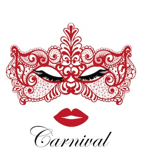 Masque de carnaval rouge