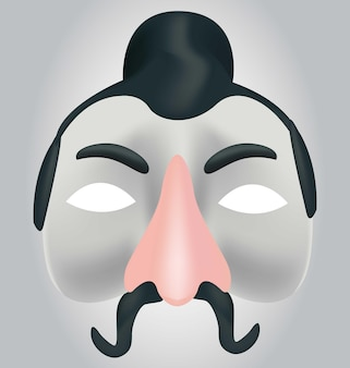 Masque chinois 3d masque chinois réaliste fabriqué en vecteurs