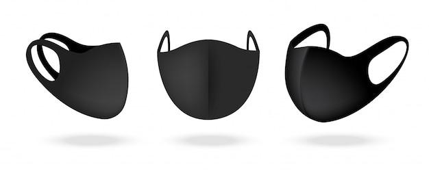 Masque chirurgical et protection antivirus isolés. respiration de sécurité, soins de santé et conception de concept médical.