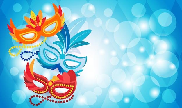 Masque coloré brésil carnaval rio fête fête