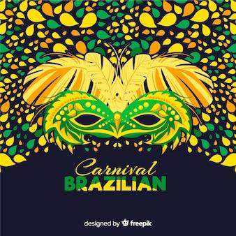 Masque coloré fond de carnaval brésilien