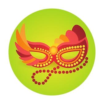 Masque coloré icône carnaval du brésil célébration fête fête de vacances rio