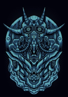 Masque de cyber diable