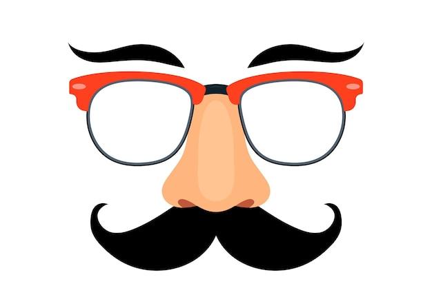 Masque de déguisement. lunettes, nez et moustache. illustration vectorielle
