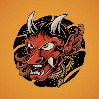 Masque de démon japonais