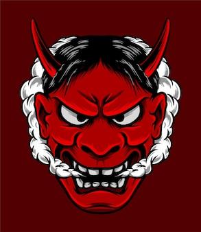 Masque de diable japonais oni