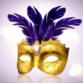 Masque doré luxueux