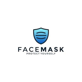 Masque facial créatif avec protection de bouclier pour votre entreprise