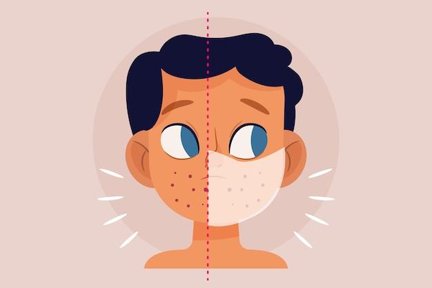 Masque facial sur et hors illustration