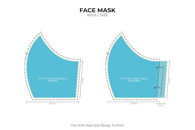 Masque facial médical couture maison