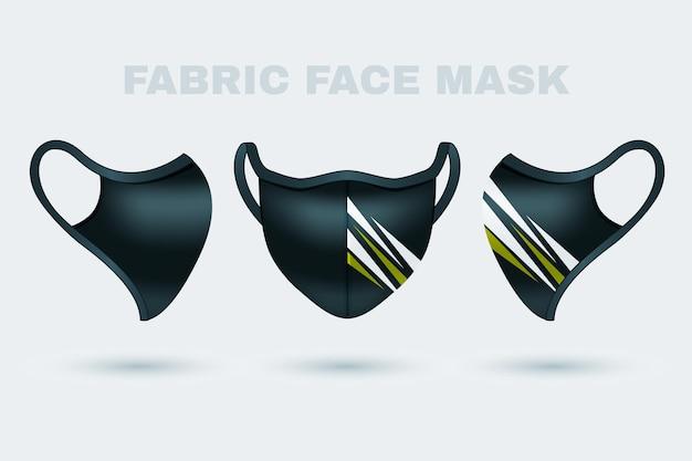 Masque facial en tissu réaliste