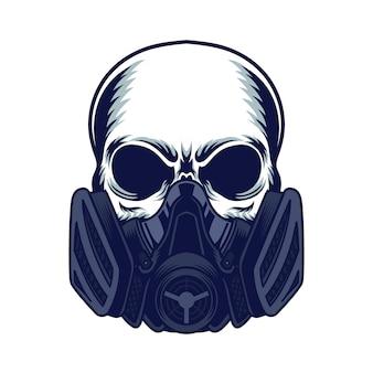 Masque à gaz crâne