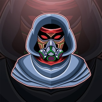 Masque à gaz logo mascotte esport