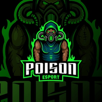 Masque à gaz poison mascotte logo esport gaming