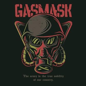 Masque de gaz soldat